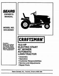 Craftsman 944 602951 User Manual