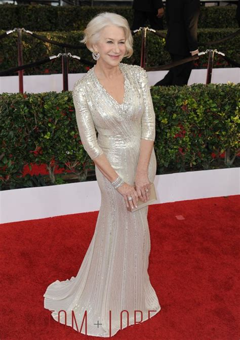 sag awards  helen mirren werqing jenny packham tom lorenzo