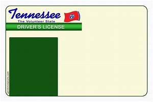 tennessee drivers license template With tennessee drivers license template