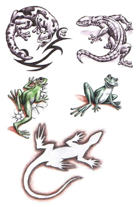 tattoos lizard tattoo stencils