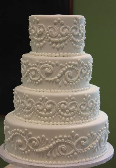 Wedding Cake Decorations by You To See Classic Piped Wedding Cake On Craftsy