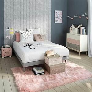 1001 conseils et idees pour une chambre en rose et gris With deco chambre gris et blanc