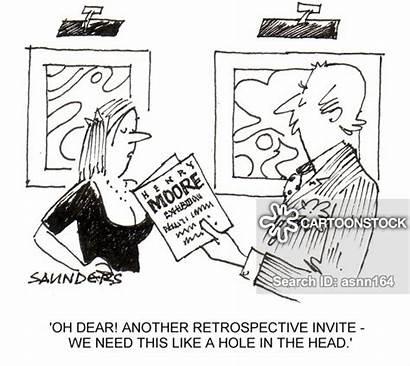 Head Hole Cartoon Cartoons Retrospective Funny Comics