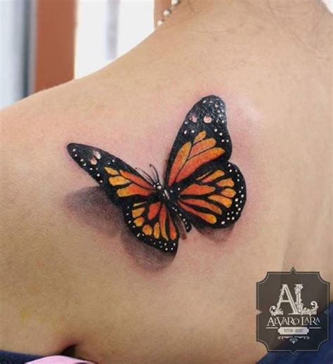 monarch butterfly tattoo   shoulder
