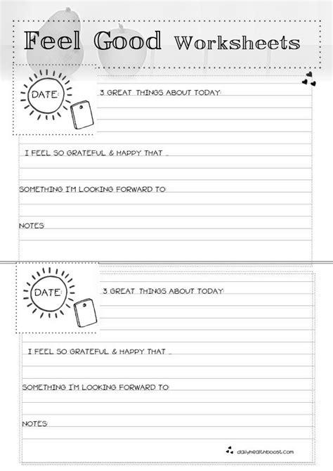 feel good worksheets  esteem social work