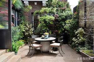 别墅庭院景观设计实景图 土巴兔装修效果图