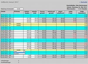 Excel Werktage Berechnen : arbeitszeiterfassung excel ~ Themetempest.com Abrechnung