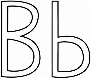 letter b coloring pages preschool and kindergarten With big b letter