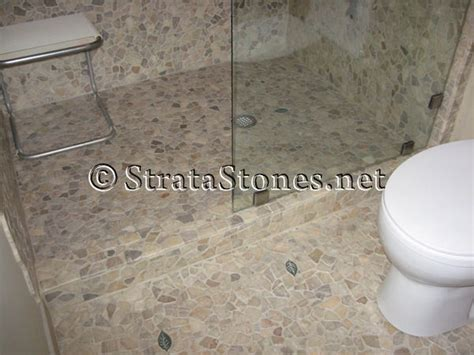 quartz mosaic tile bathroom shower floor remodel