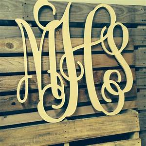 painted monogram extra large wall letters cursive wooden With extra large letters