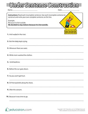 sentence scramble activity education