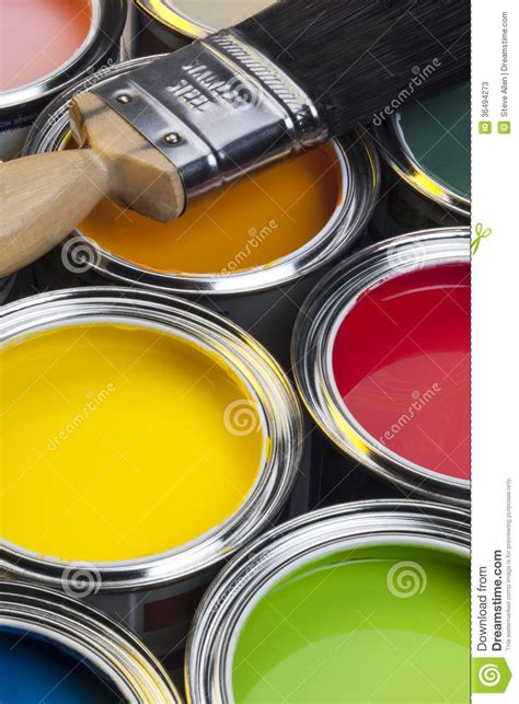 Painting And Decorating  Paint Cans Stock Image  Image. Living Room Electronics. Rustic Living Room Tables. Living Room Colour Design. Ideas For Long Living Room Layout