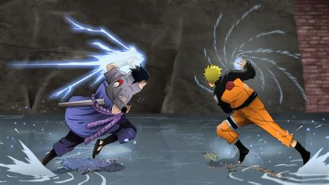 Wallpaper Naruto Vs Sasuke Final Battle