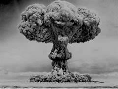 black and white  bomb ...
