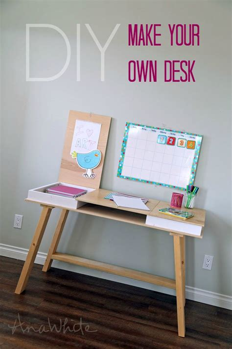 easy to make desk easy diy drawers and desks on pinterest