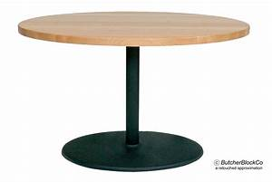 Boos Butcher Block Cafe Table - Black Pedestal Base