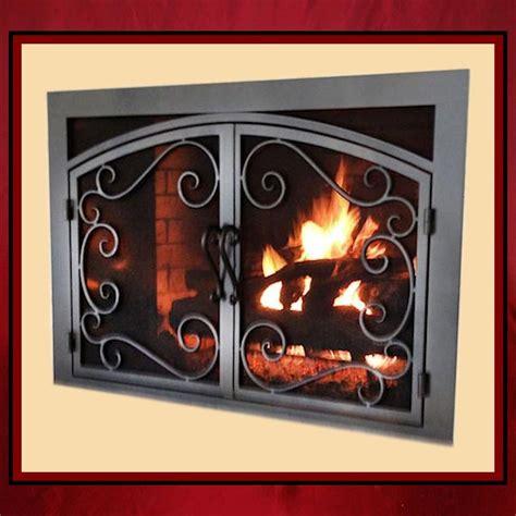wrought iron fireplace screen door northshore
