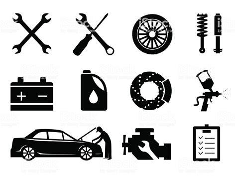 Car Maintenance And Repair Icon Set Vector Stock Vector