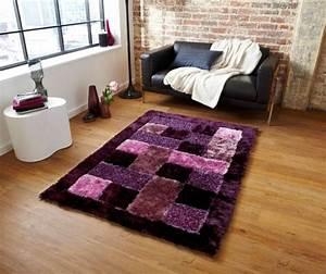 comment rafraichir l39interieur grace au tapis violet 23 photos With tapis chambre enfant avec canapé cuir design luxe