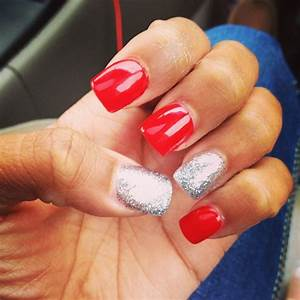 Red and silver prom nails. | Nails | Pinterest | Prom ...