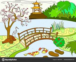 Jardin Dessin Couleur : beau dessin a colorier jardin japonais ~ Melissatoandfro.com Idées de Décoration