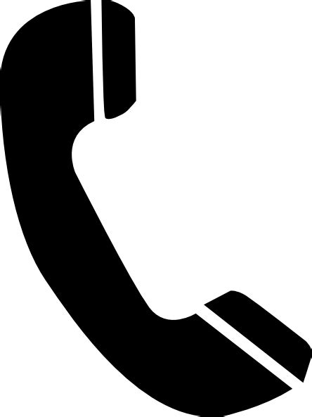 telephone clipart black and white telephone clip at clker vector clip