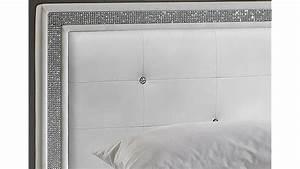 Polsterbett 180x200 Weiß : myla polsterbett wei mit strass 180x200 cm ~ Sanjose-hotels-ca.com Haus und Dekorationen