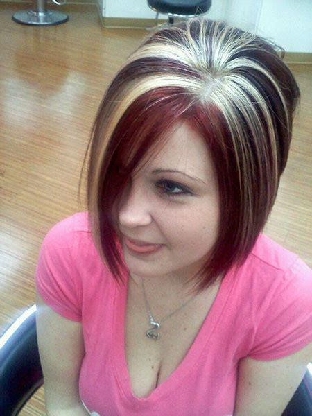 rote und blonde kurze haare trend frisuren stil