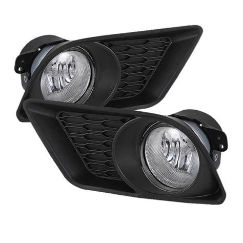 spyder 2011 2013 dodge charger oem style fog lights clear