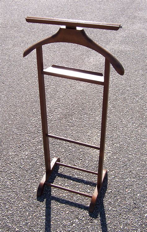 mens wooden clothing valet stand triple  resale