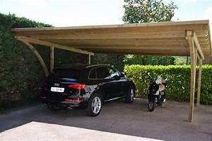 Abri Voiture En Bois : abris voiture double en bois couverture bois saint paul ~ Nature-et-papiers.com Idées de Décoration