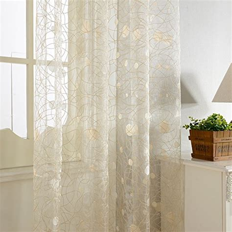 top finel embroidered window treatments panels sheer