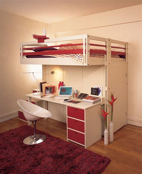 bureau de lit lits mezzanines attique