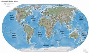 World Map Oceans and Seas | Figure 2.17 World's Oceans ...