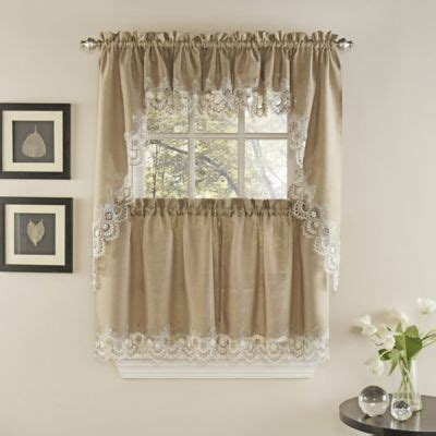 Kitchen Curtains Canada by Palais Kitchen Window Curtain Tiers And Valance Bed Bath