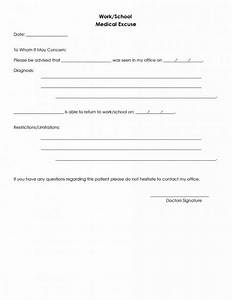 excellent school excuse template contemporary resume With sick note template for school