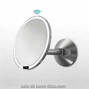 Simplehuman mirror for Miroir mural lumineux