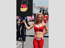 Sebastian Vettel's grid girl on race day Formula 1