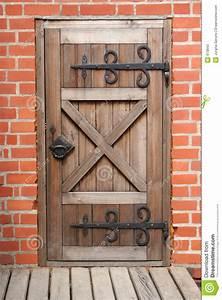 Old Door Stock Image  Image Of Brick  Door  Details