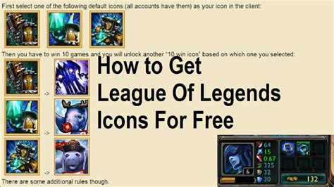 League Of Legends How To Get Free Icons For Winning