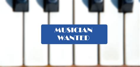 Image result for musicians needed