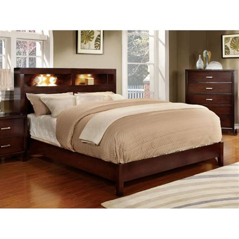 Platform Bookcase Bed by Furniture Of America Jenners Platform Bookcase Bed