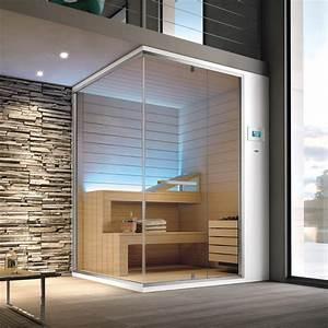 Sauna Für Badezimmer : sauna f r badezimmer 200x120x215 cm aluminium glas ~ Lizthompson.info Haus und Dekorationen