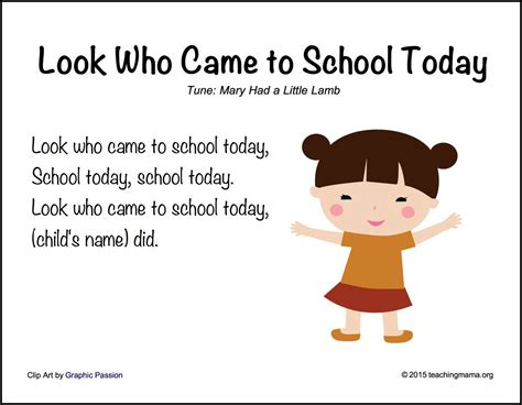 back to school songs for preschoolers 395 | Look Who Came to School Today