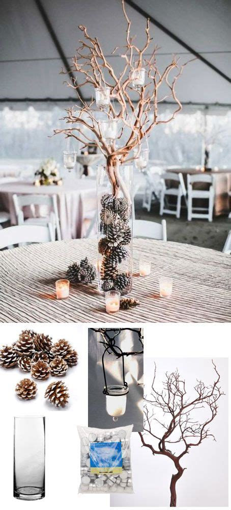 simple wedding centerpiece for winter weddings all of