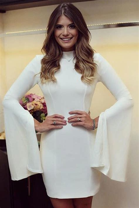 Elegant Skinny White Bell Sleeve Mini Dress Online Store For Women Sexy Dresses