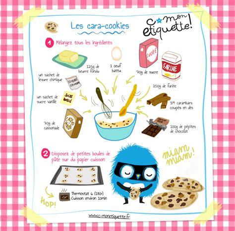 recette cuisine pour enfants recette cara cookies