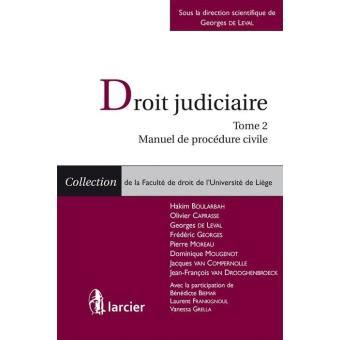 manuel de procedure civile droit judiciaire tome