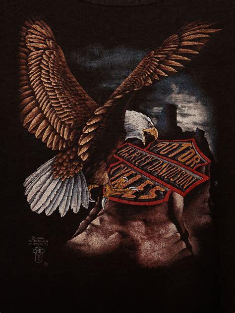 lyst  people vintage harley davidson eagle tee  black