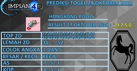 prediksi togel hongkong pools minggu  oktober  impian